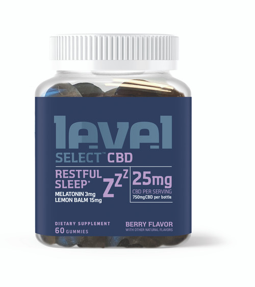 Level Select 60ct CBD Gummies - Restful Sleep