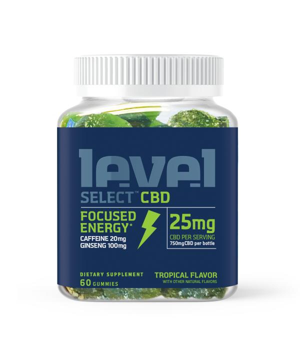 Level Select 60ct CBD Gummies - Focused Energy