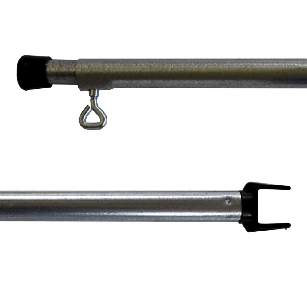 10Ft Adjustable Steel Square C-CLIP Pole