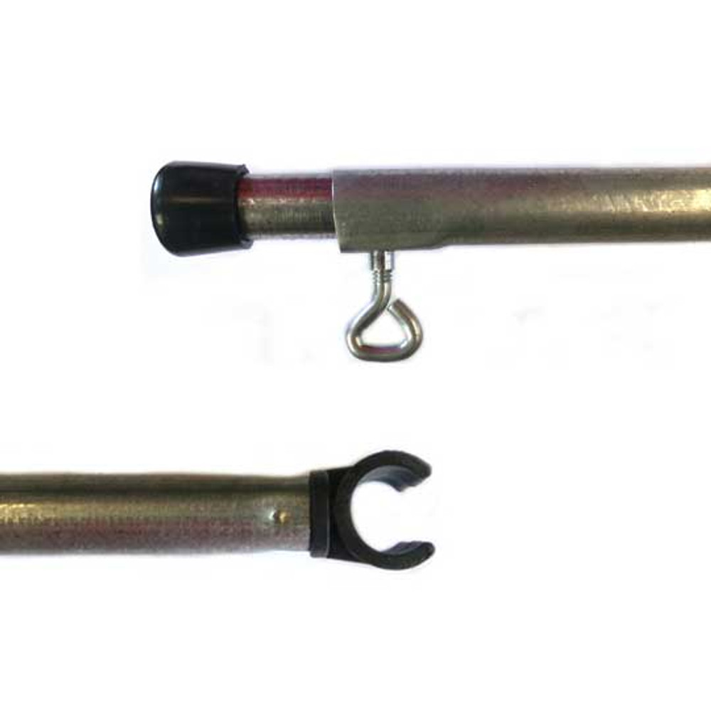 10Ft Adjustable Steel Round C-CLIP Pole