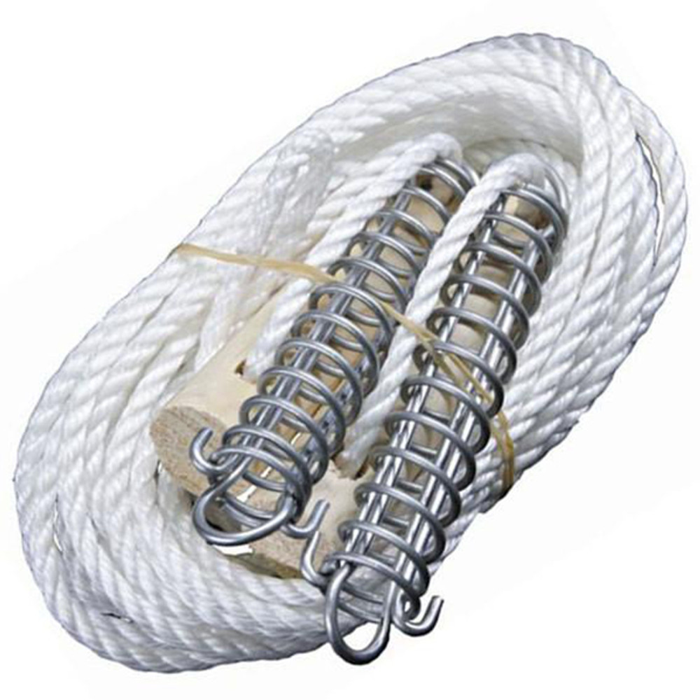 Deluxe Double Guy Rope with wooden slide runners & tension springs