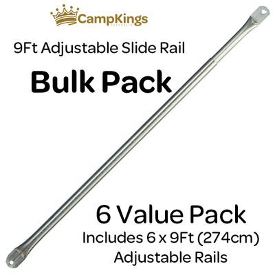 Bundle & Save with CampKings 6 pack of Adjustable Steel Slide Rails