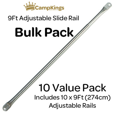 Bundle & Save with CampKings 10 pack of Adjustable Steel Slide Rails