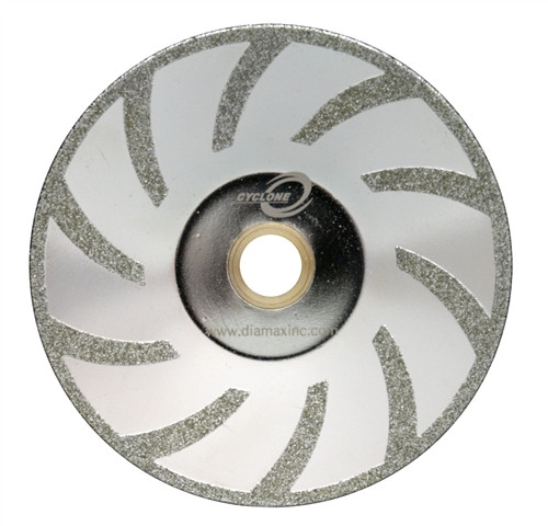 """5"""" Cyclone Electroplated Contour Blade for Marble"""
