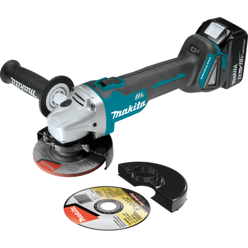 """XAG04T  18V LXT® Lithium‑Ion Brushless Cordless 4‑1/2"""" / 5"""" Cut‑Off/Angle Grinder Kit (5.0Ah)"""