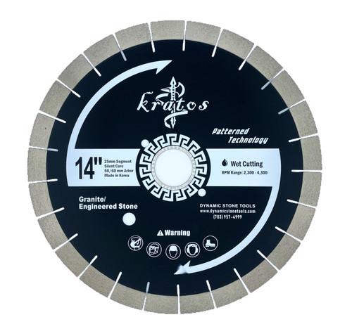 Kratos Patterned Silent Bridge Saw Blade, 25mm Segments.