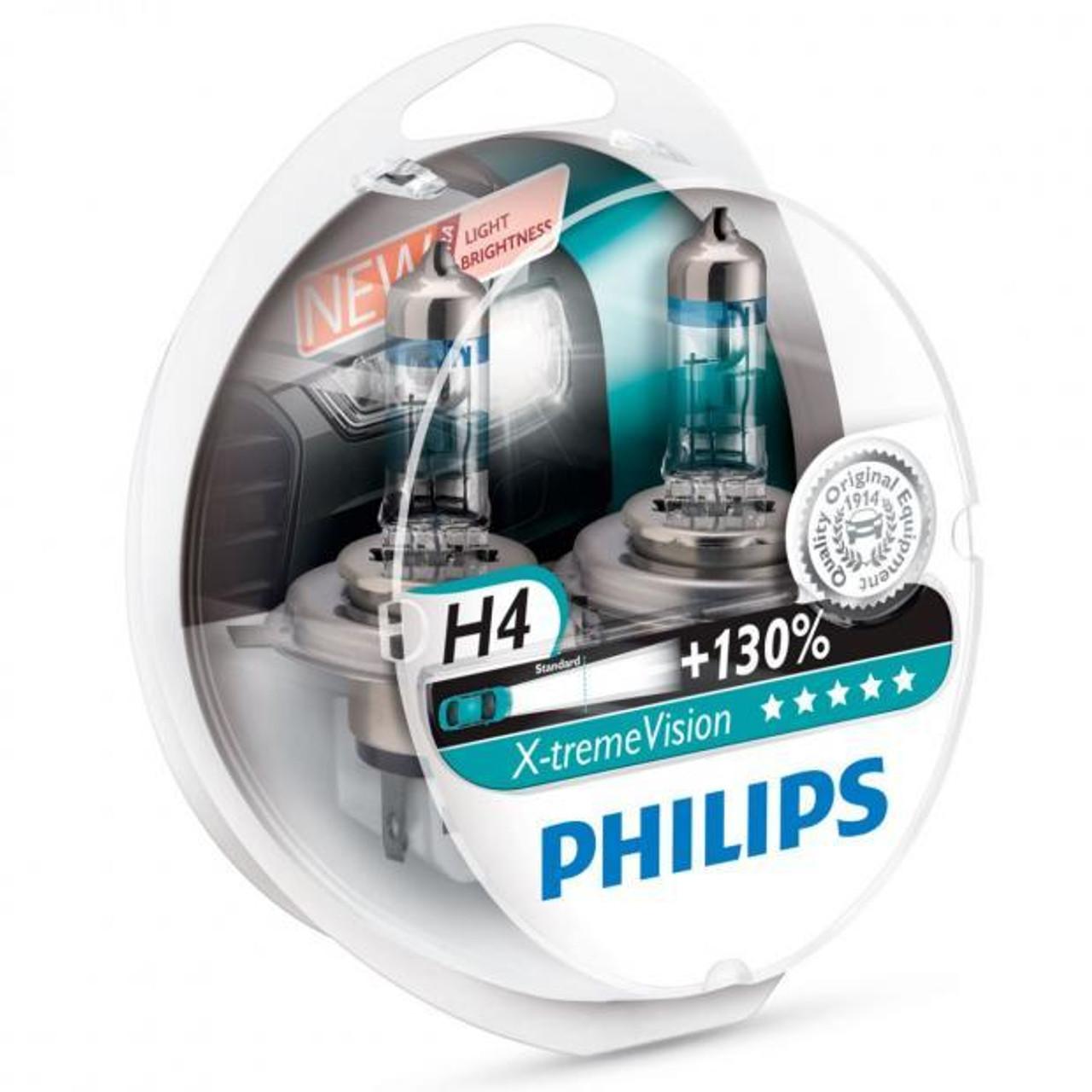 Philips Vision+130 X-treme H4 Bulbs