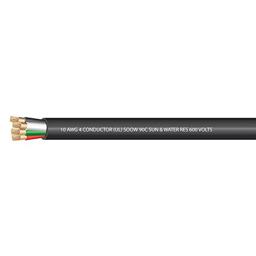 10 AWG 4 conductors SOOW Portable Cord 600 Volts -40C +90C Hard Usage UL Approved - (SELECT FEET BELOW)