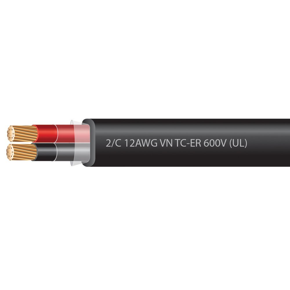 12 AWG 2 Conductor VNTC Tray Cable 600 Volts (UL)