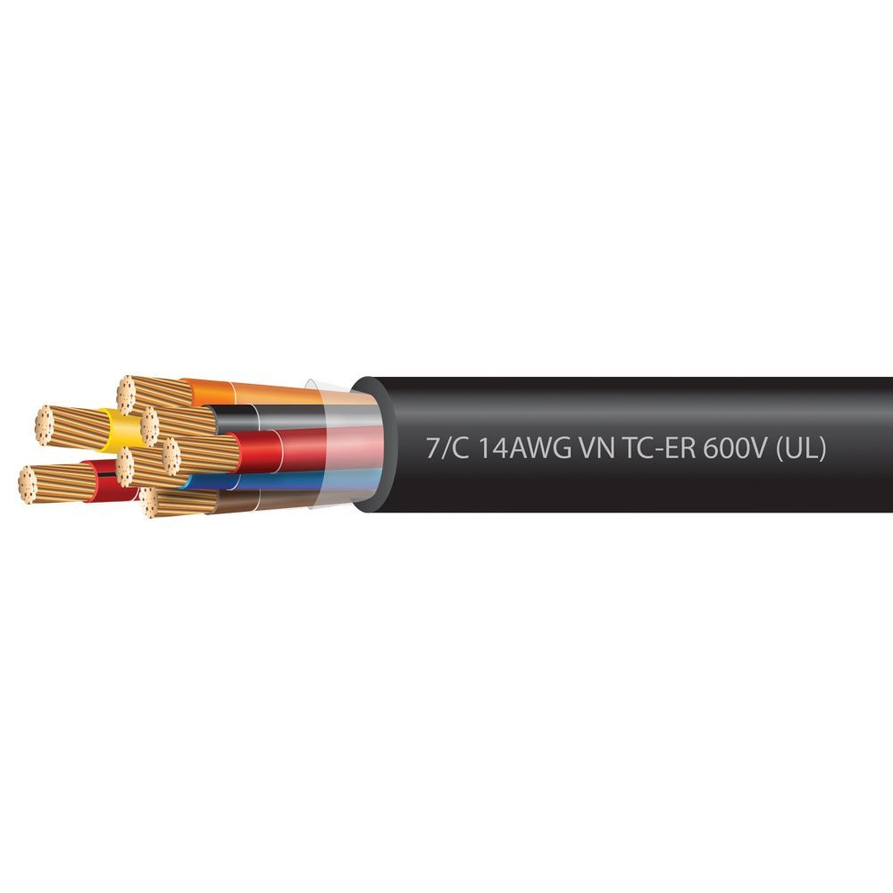14 AWG 7 Conductor VNTC Tray Cable 600 Volts (UL)