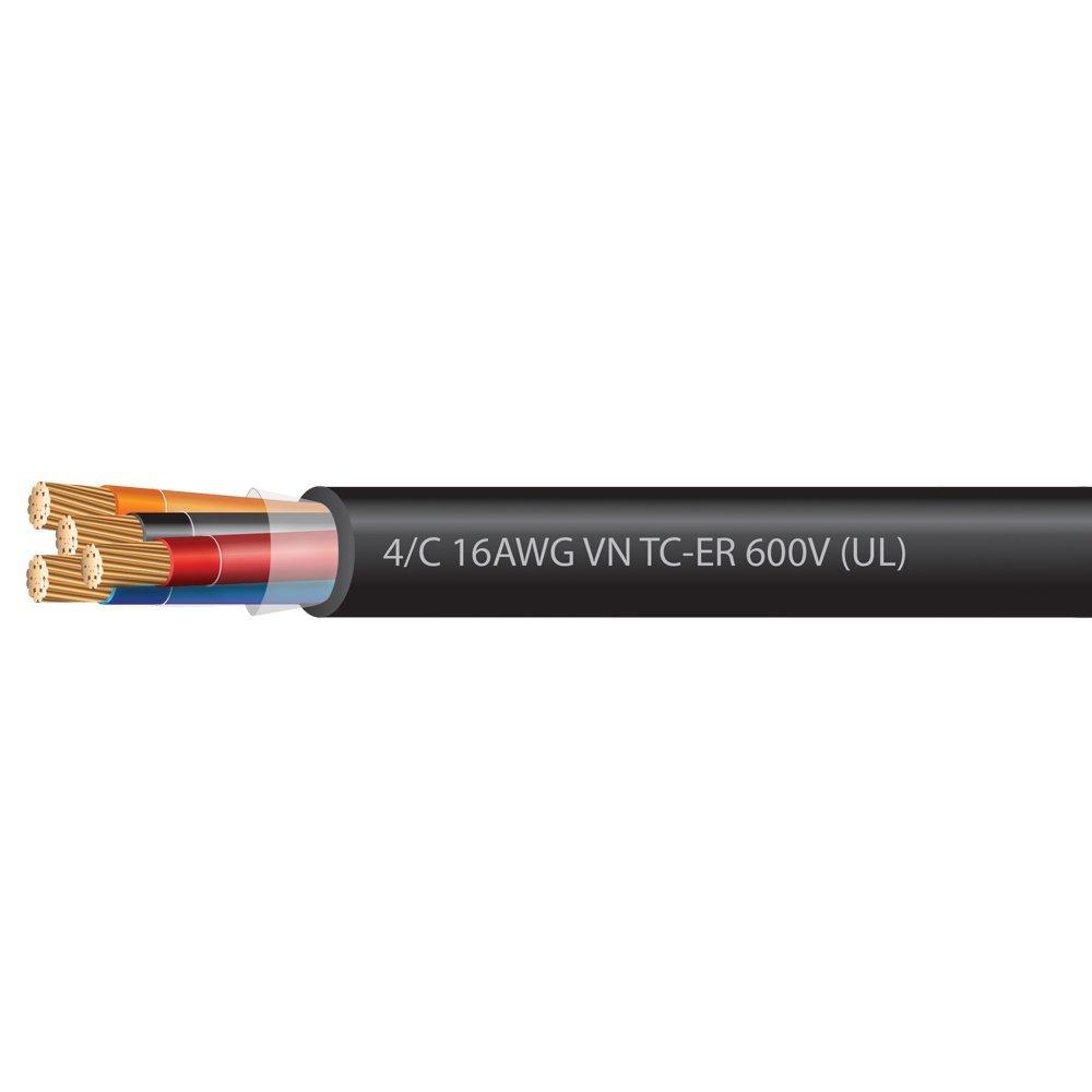 16 AWG 4 Conductor VNTC Tray Cable 600 Volts (UL)