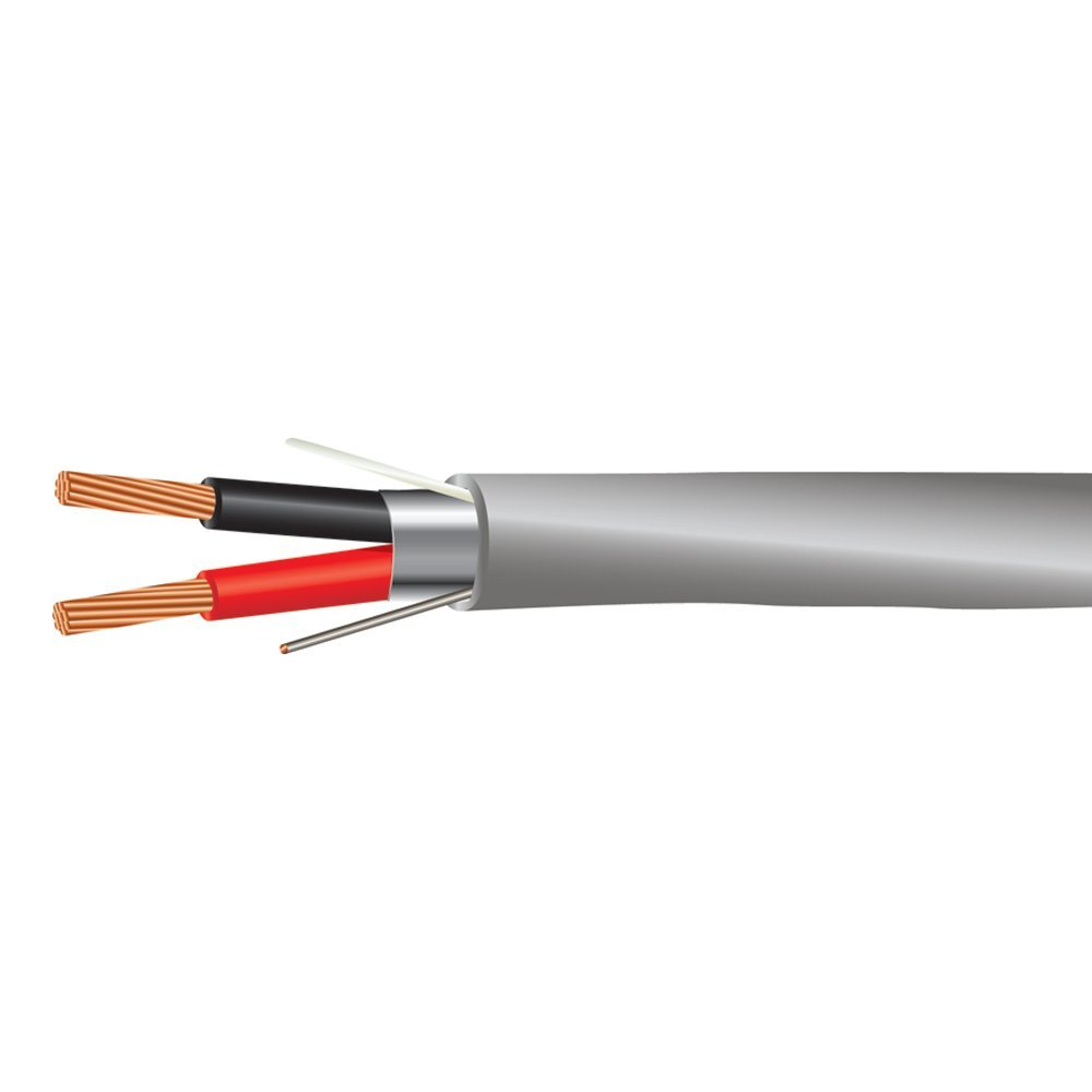18 AWG 2/C Str CMR Riser Rated Shielded Sound & Security Cable - 1000 Feet