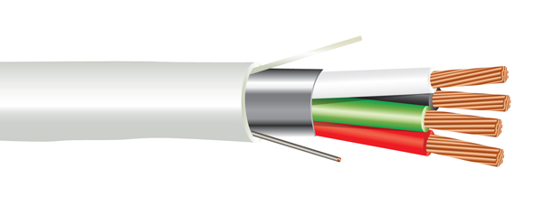 18 AWG 4/C Str CMP Plenum Rated Shielded Sound & Security Cable - 1000 Feet
