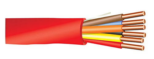 18 AWG 6/C Solid FPLP Plenum Rated Non-Shielded Fire Alarm Cable Red - 1000 Feet