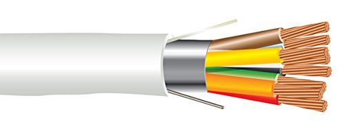 18 AWG 8/C Str CMP Plenum Rated Shielded Sound & Security Cable - 1000 Feet