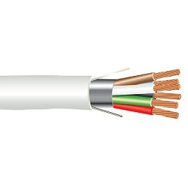 22 AWG 6/C Str CMP Plenum Rated Shielded Sound & Security Cable - 1000 Feet