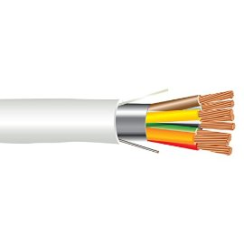 22 AWG 8/C Str CMP Plenum Rated Shielded Sound & Security Cable - 1000 Feet