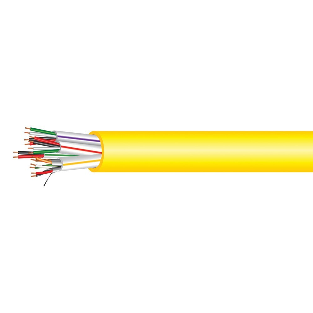 Electronic Lock Access Composite Control Cable - Plenum Rated - Yellow PVC Jacket - 1000 Feet
