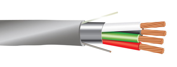 22 AWG 4/C Str CMR Riser Rated Shielded Sound & Security Cable - 1000 Feet