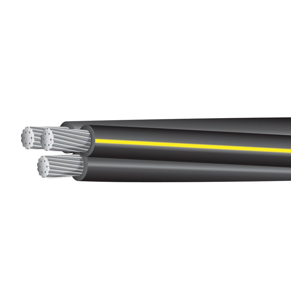 """250MCM-250MCM-3/0 AWG ALUMINUM UD TRIPLEX 600 VOLTS CODE """"PRATT"""""""