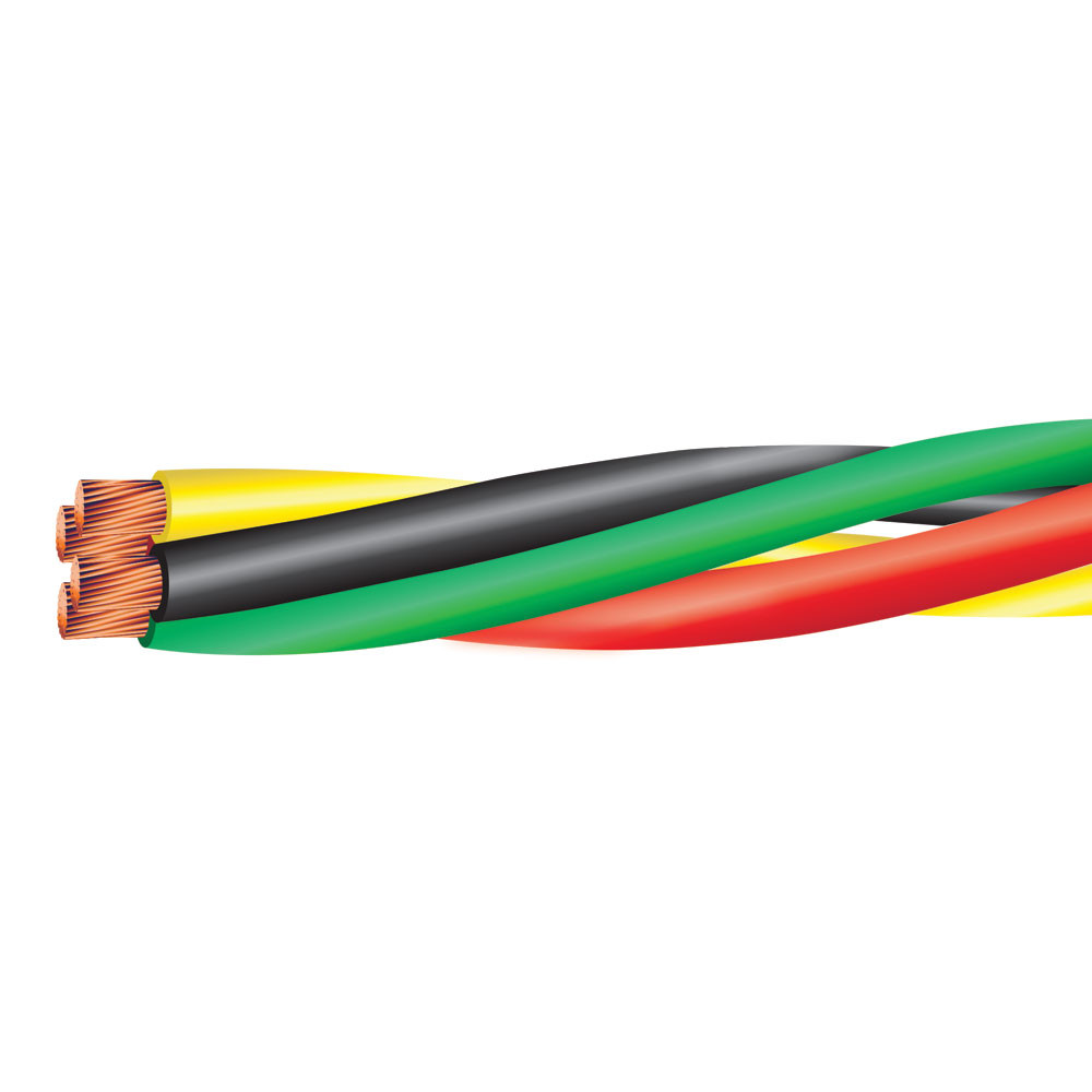 8 AWG 3 COND W/ 10 AWG GRD TWISTED PUMP CABLE 600 VOLTS