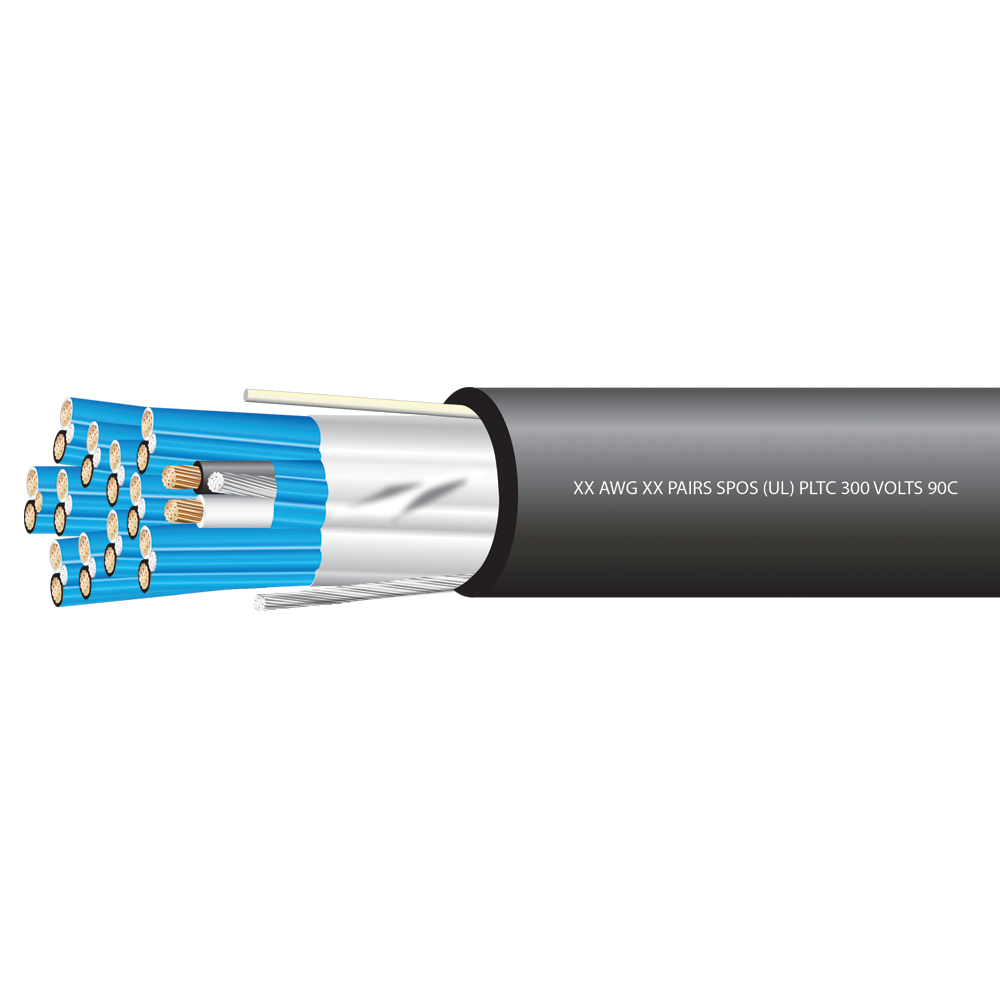 18 AWG 8 SHIELDED PAIRS POWER LIMTED TRAY CABLE 300 VOLTS