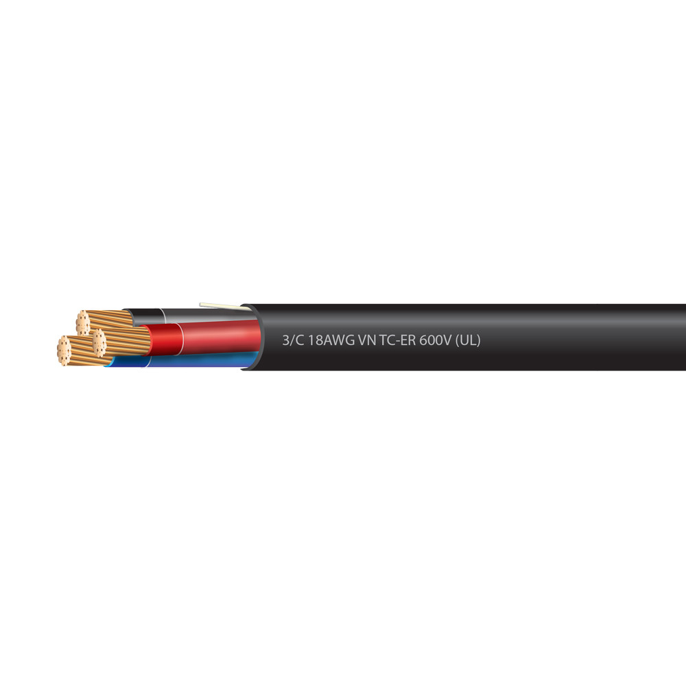 18 AWG 3 Conductor VNTC-ER Tray Cable 600 Volts (UL)