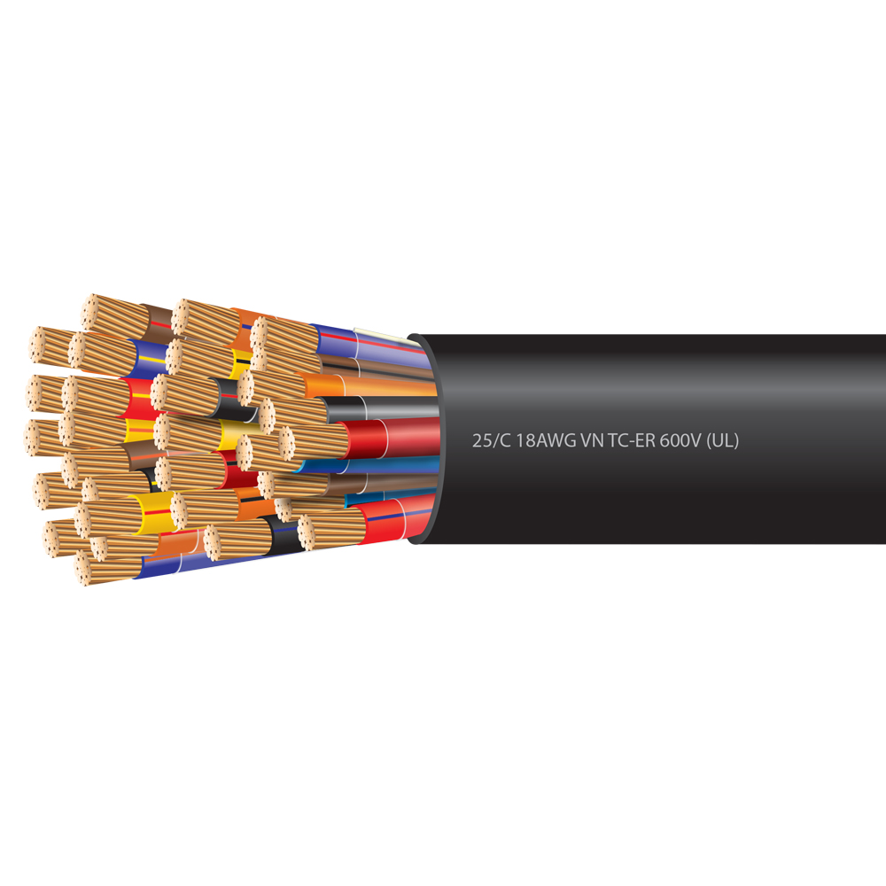 18 AWG 25 Conductor VNTC-ER Tray Cable 600 Volts (UL)