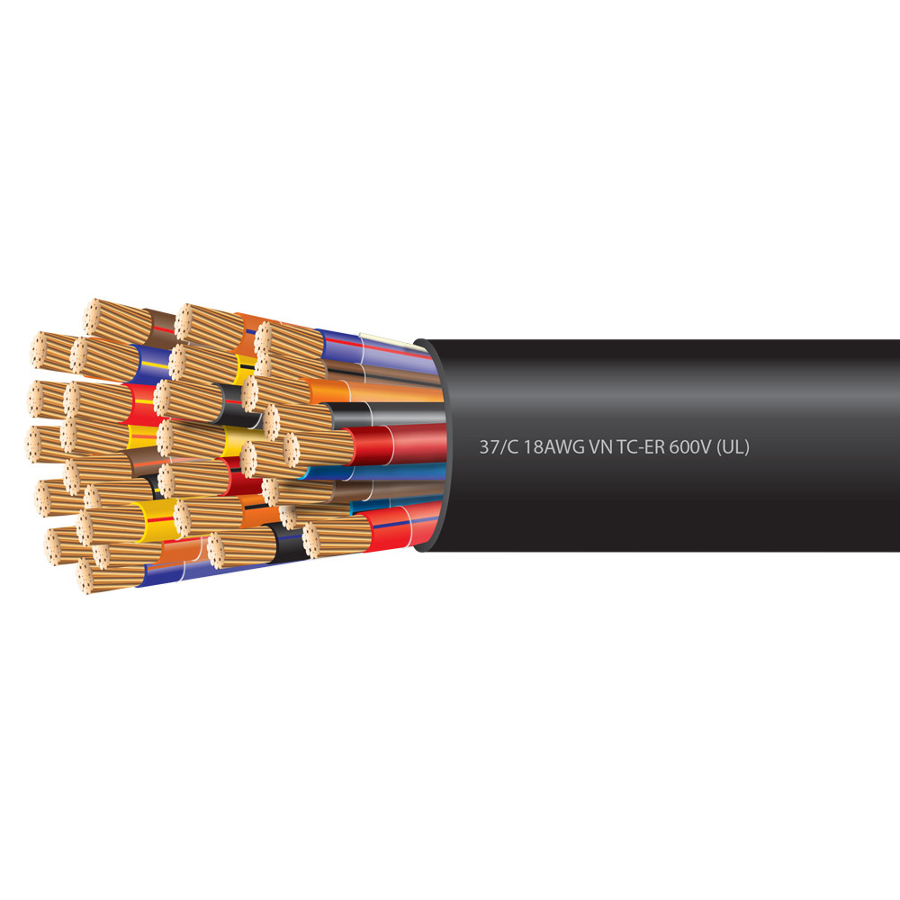 18 AWG 37 Conductor VNTC-ER Tray Cable 600 Volts (UL)