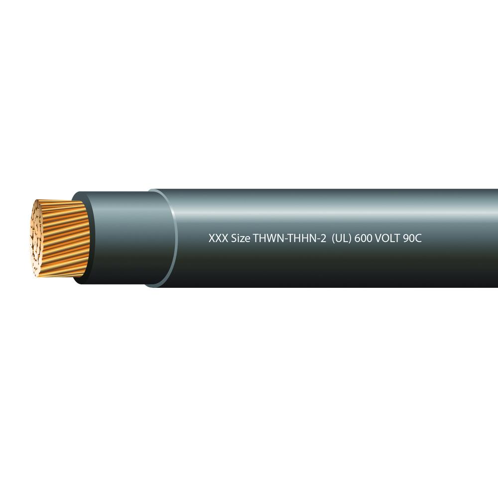 4/0 AWG STRANDED THHN-2 600 VOLTS 90C BLACK