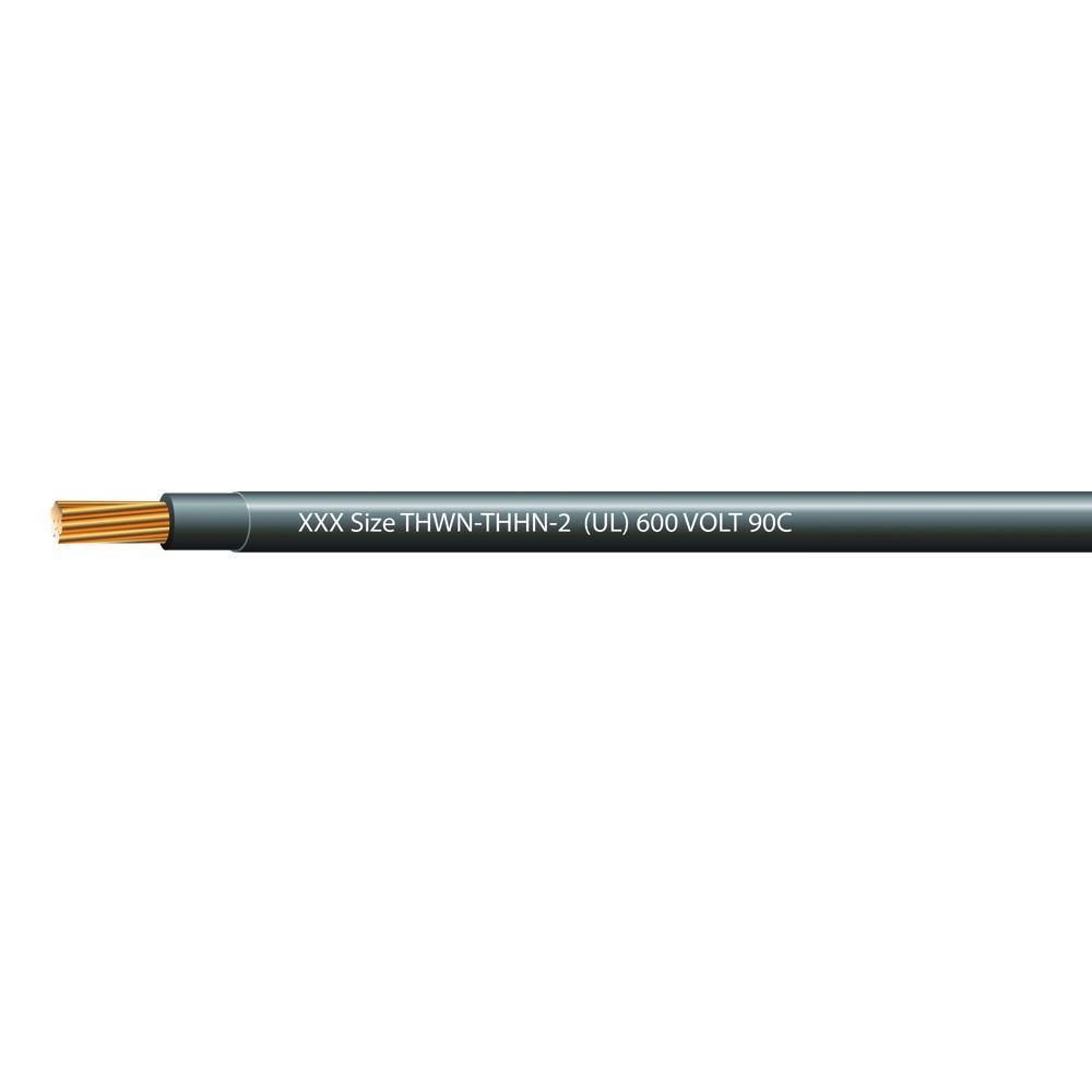 1 AWG STRANDED THHN-2 600 VOLTS 90C BLACK