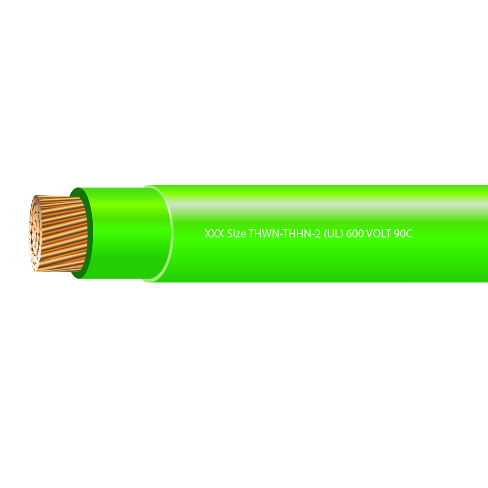 1/0 AWG STRANDED THHN-2 600 VOLTS 90C GREEN