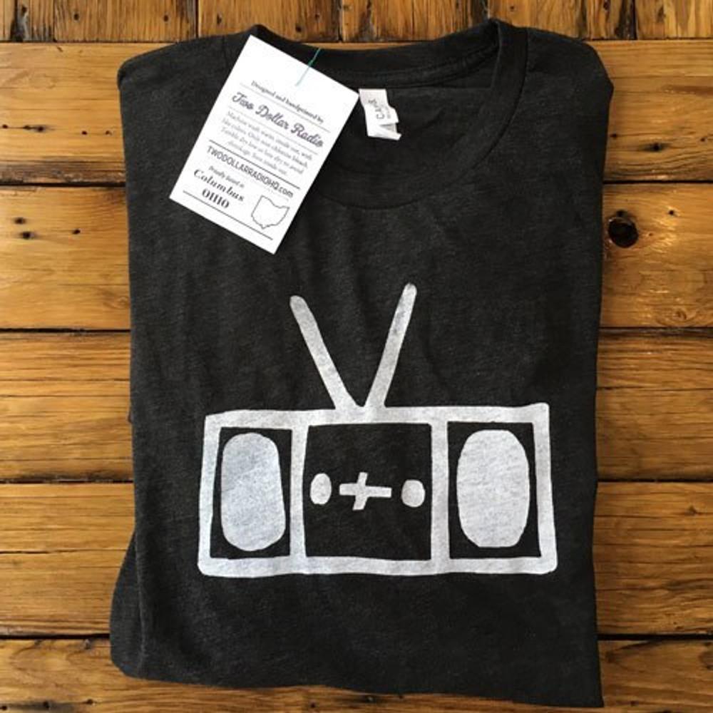 Two Dollar Radio Headquarters Radio shirt charcoal unisex fit