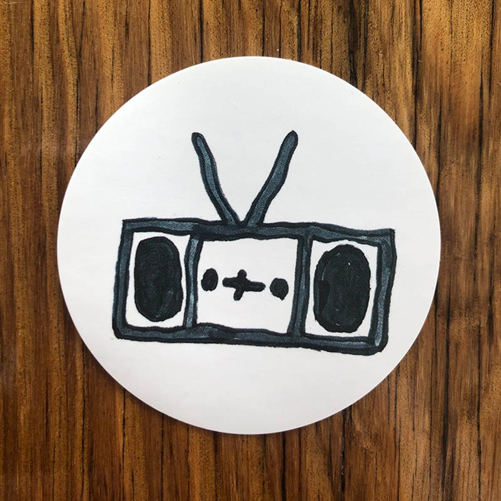Boombox Sticker