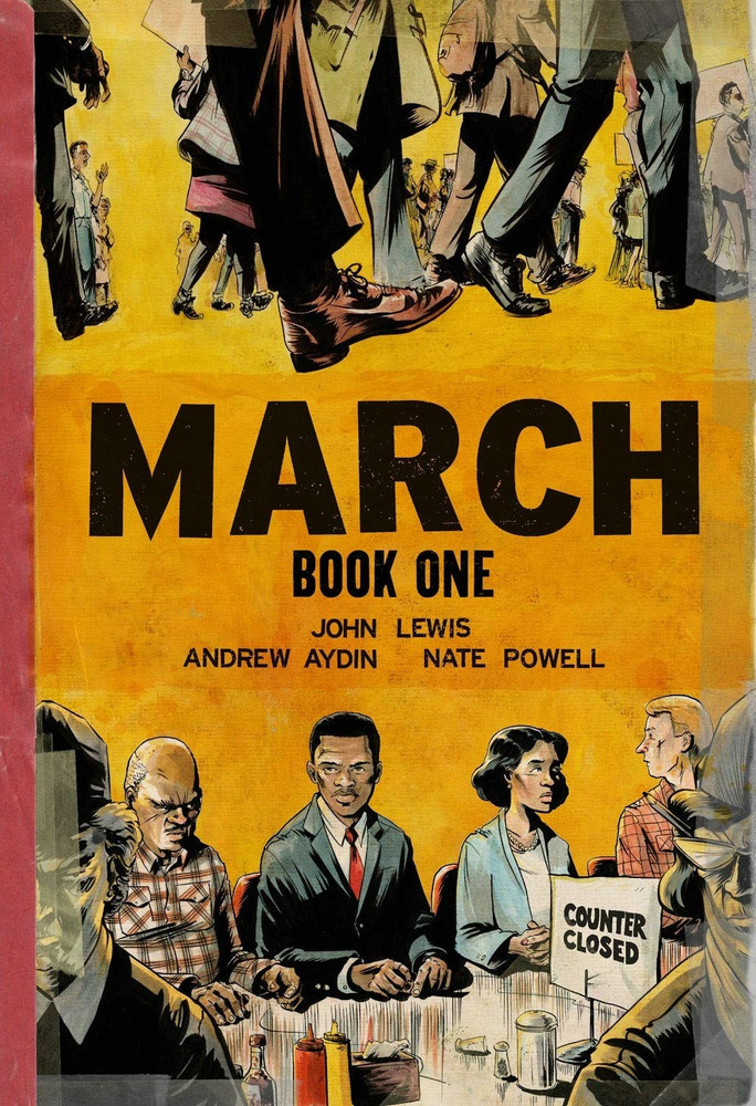 March: Book One Paperback by John Lewis  (Author), Andrew Aydin  (Author), Nate Powell  (Illustrator)