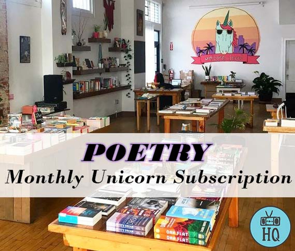 Two Dollar Radio Headquarters Monthly Unicorn Book Subscriptions Poetry