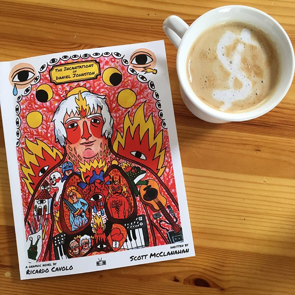 The Incantations of Daniel Johnston book cover by Ricardo Cavolo and Scott McClanahan
