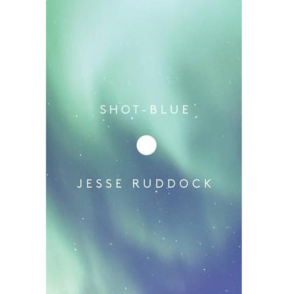Shot-Blue book cover by Jesse Ruddock