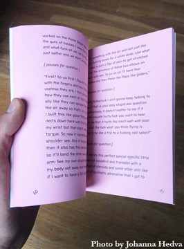 On Hell Paperback book by Johanna Hedva pink paper