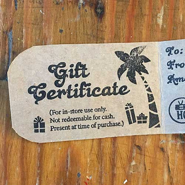 Two Dollar Radio Gift Certificate Cards