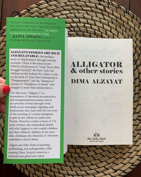 Alligator and Other Stories by Dima Alzayat front flap book cover