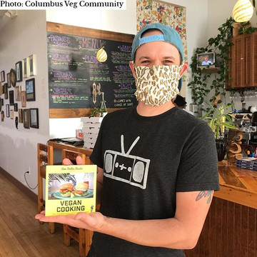 Two Dollar Radio Guide to Vegan Cooking with Eric Obenauf. PHOTO BY Columbus Veg Community