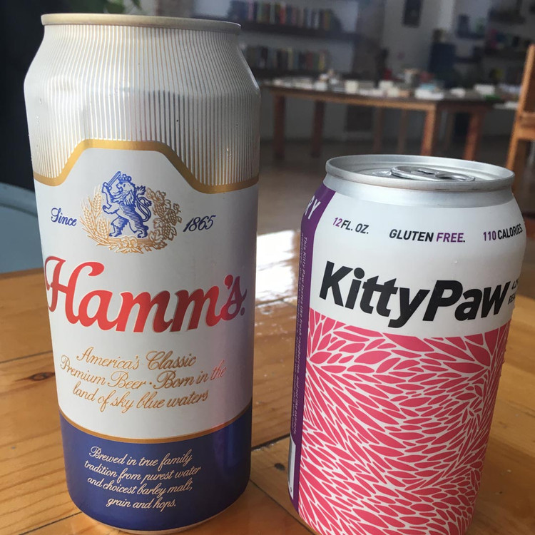 Hamm's and Seventh Son's 'Kitty Paw' cans