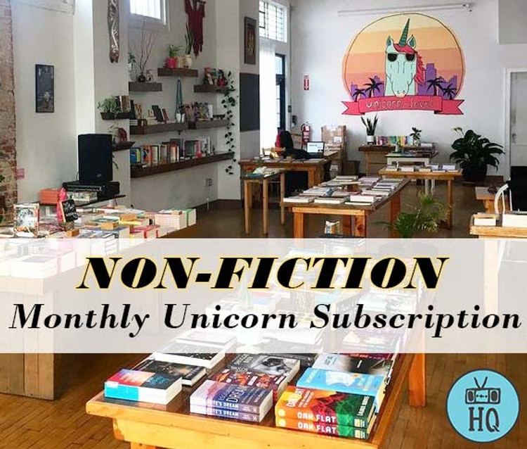 Two Dollar Radio Headquarters Monthly Unicorn Book Subscriptions Non-Fiction
