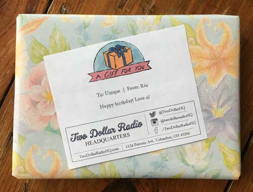 Two Dollar Radio Headquarters gift wrapping image