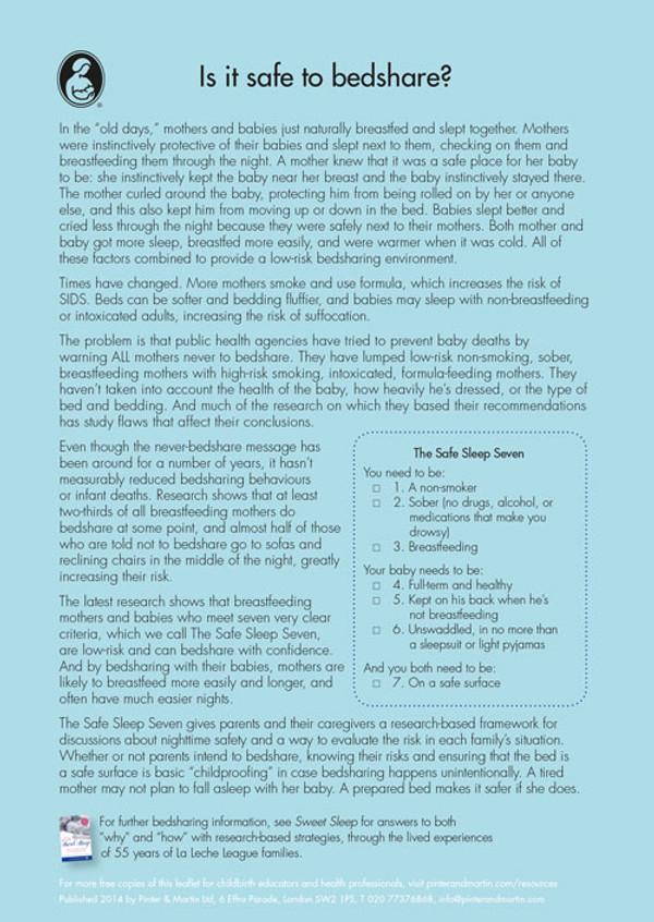 Safe Sleep 7 leaflets (from Sweet Sleep)