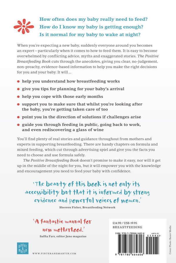 The Positive Breastfeeding Book - back cover