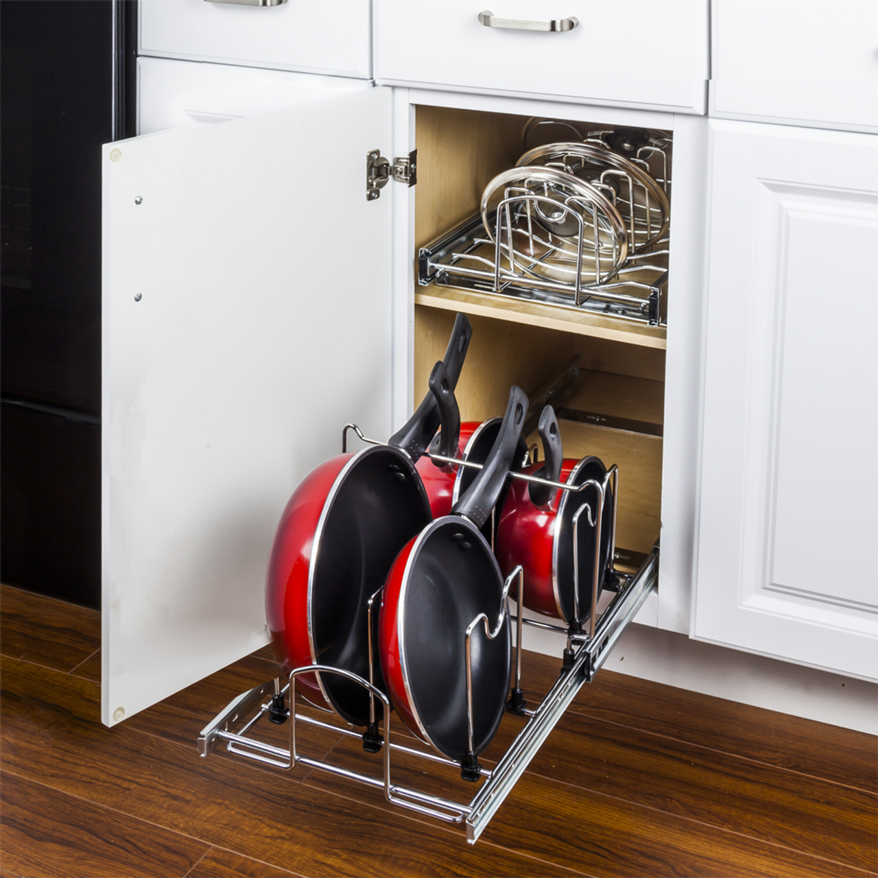 Get Hardware Resources Mppo215 R Pots And Pans Pullout Organizer For 15 Base Cabinet