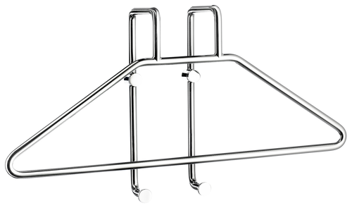 Chrome Clothes Rail Wall Hook-sloping arm for wall mounting