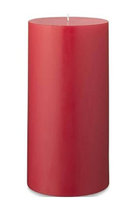 "Handmade Christmas Red Soy Wax 2.75"" x 4.5"" Pillar Candle"